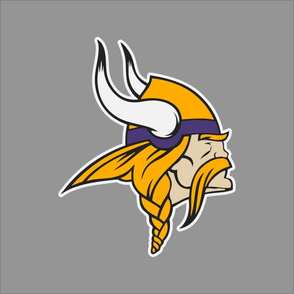 Minnesota Vikings 2 Nfl Team Logo Vinyl Decal Sticker Car