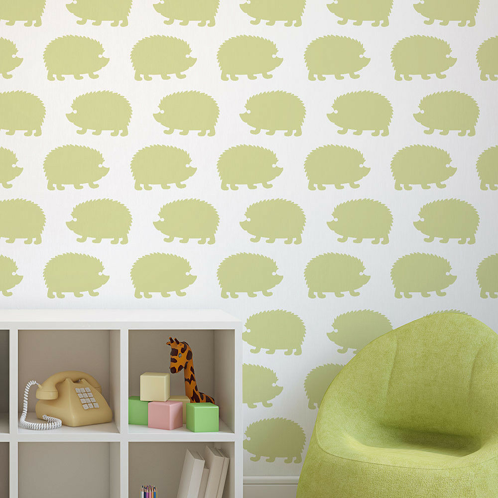 Hedgehogs Allover Stencil - LARGE - Reusable Wall Stencils for DIY ...