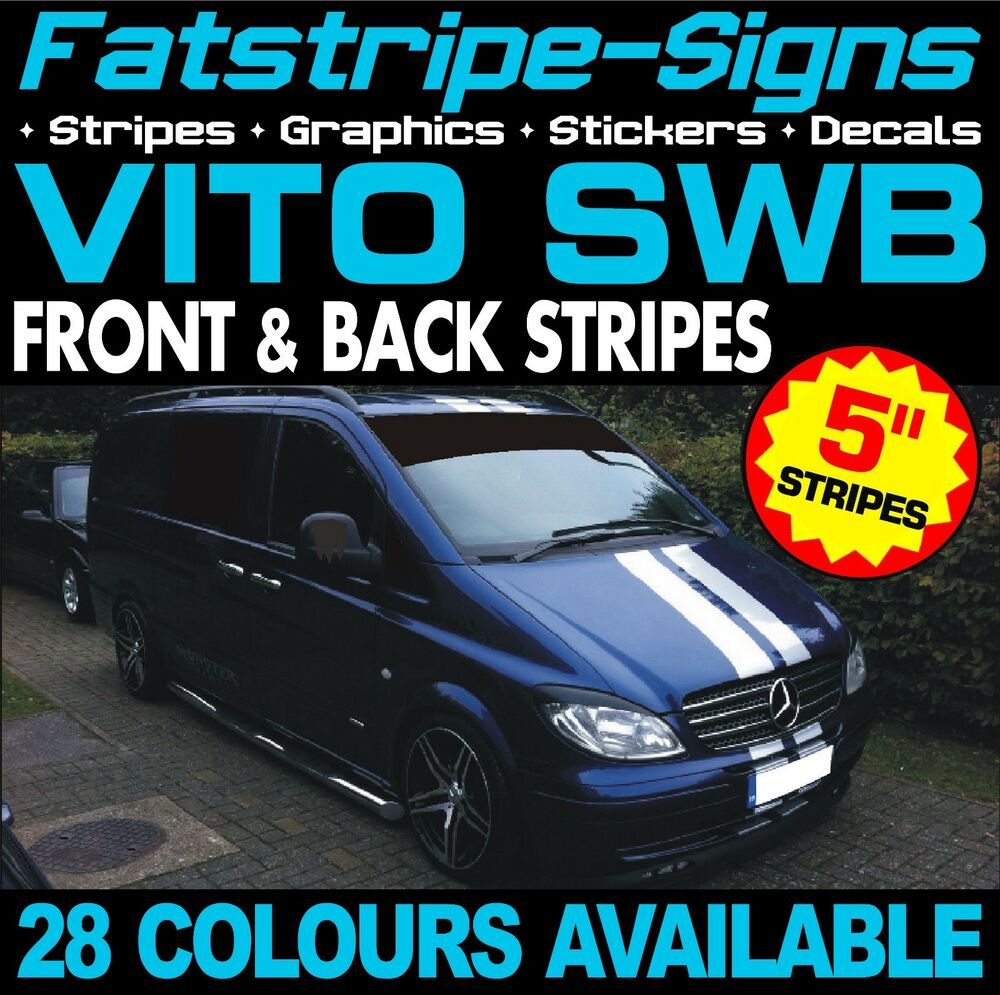 Mercedes Vito Swb Compact Stripes Graphics Stickers Decals