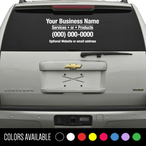 Custom Business Name Decal Window Vinyl Sticker Lettering