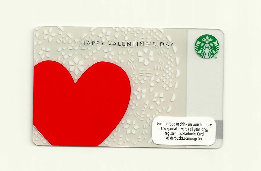 STARBUCKS GIFT CARD ~ 2012 HAPPY VALENTINES DAY ~ UNUSED  eBay