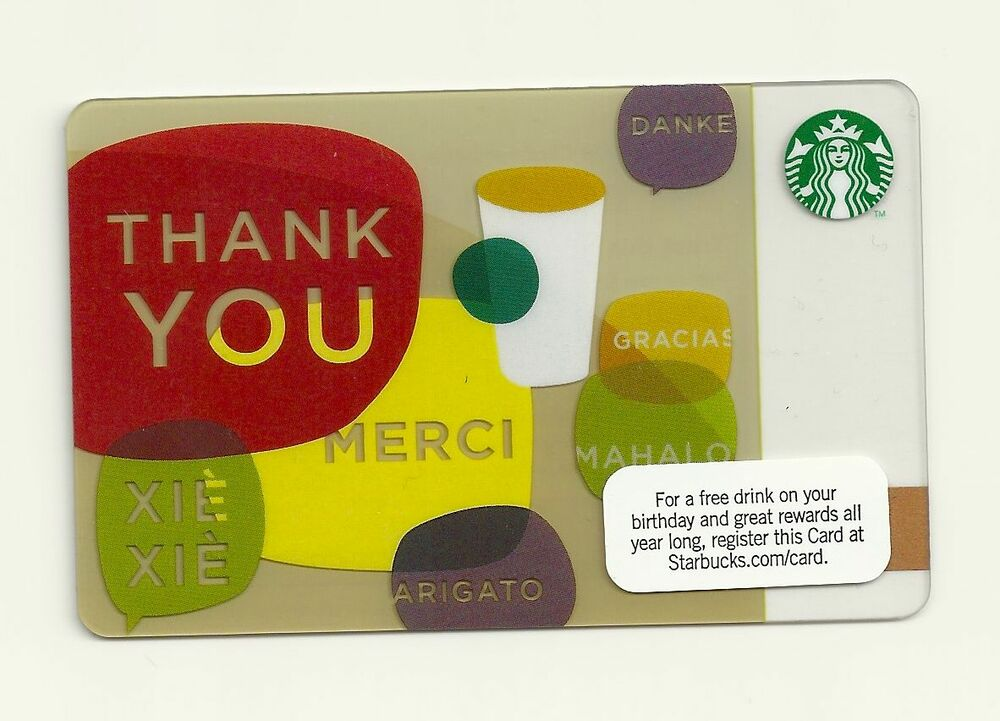 STARBUCKS GIFT CARD 2010 WAYS OF SAYING THANK YOU UNUSED  eBay