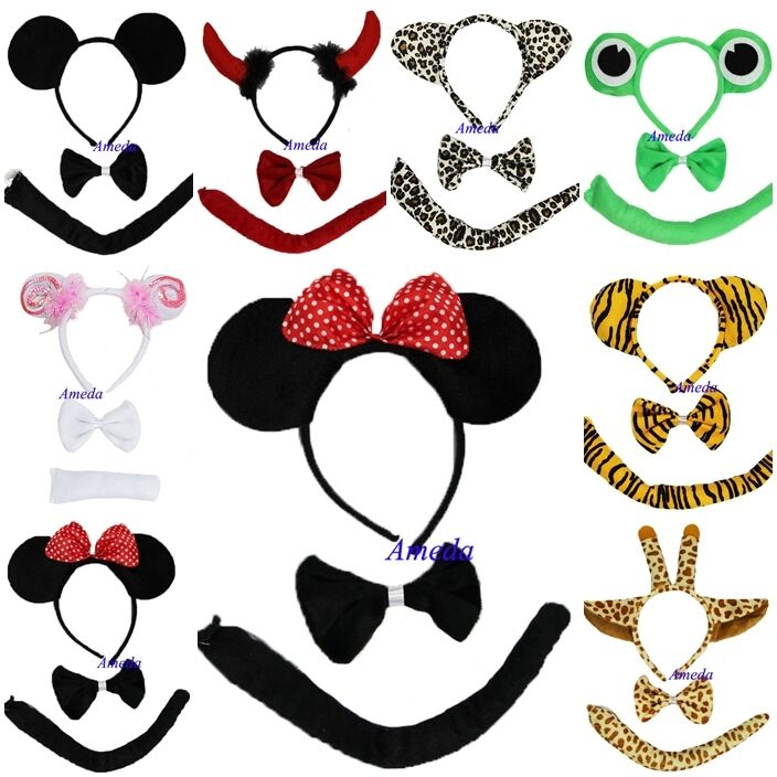 kind minnie micky maus leopard frosch schaf giraffe teufel stirnband kost m ebay. Black Bedroom Furniture Sets. Home Design Ideas