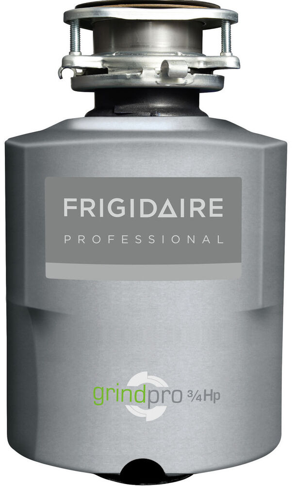 new frigidaire 3 4hp batch feed food waste disposer disposal fpdi758dms ebay. Black Bedroom Furniture Sets. Home Design Ideas
