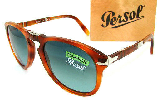 f43d50f255 Details about PERSOL Steve McQueen 714SM Polarized Folding Sunglass PO 714  - 96/S3 NEW 54mm