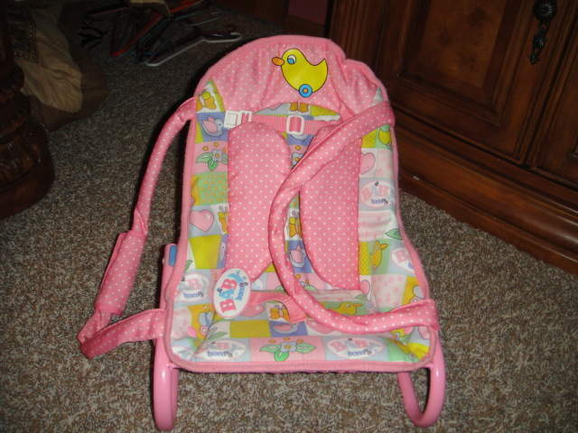 Rare Zapf Baby Born Baby Chair Rocker Carrier Bouncer