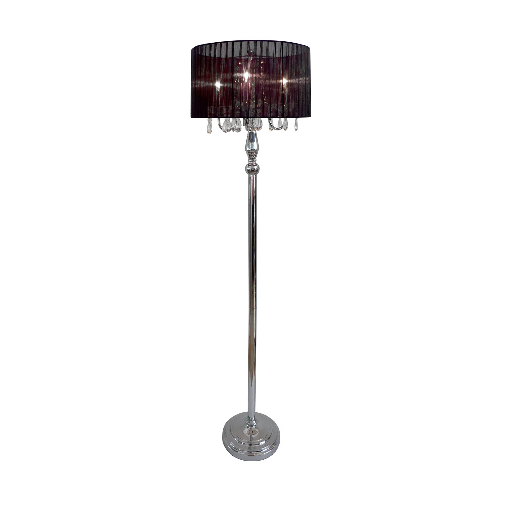 crystal pole floor lamp shade tall mid century vintage chandelier. Black Bedroom Furniture Sets. Home Design Ideas