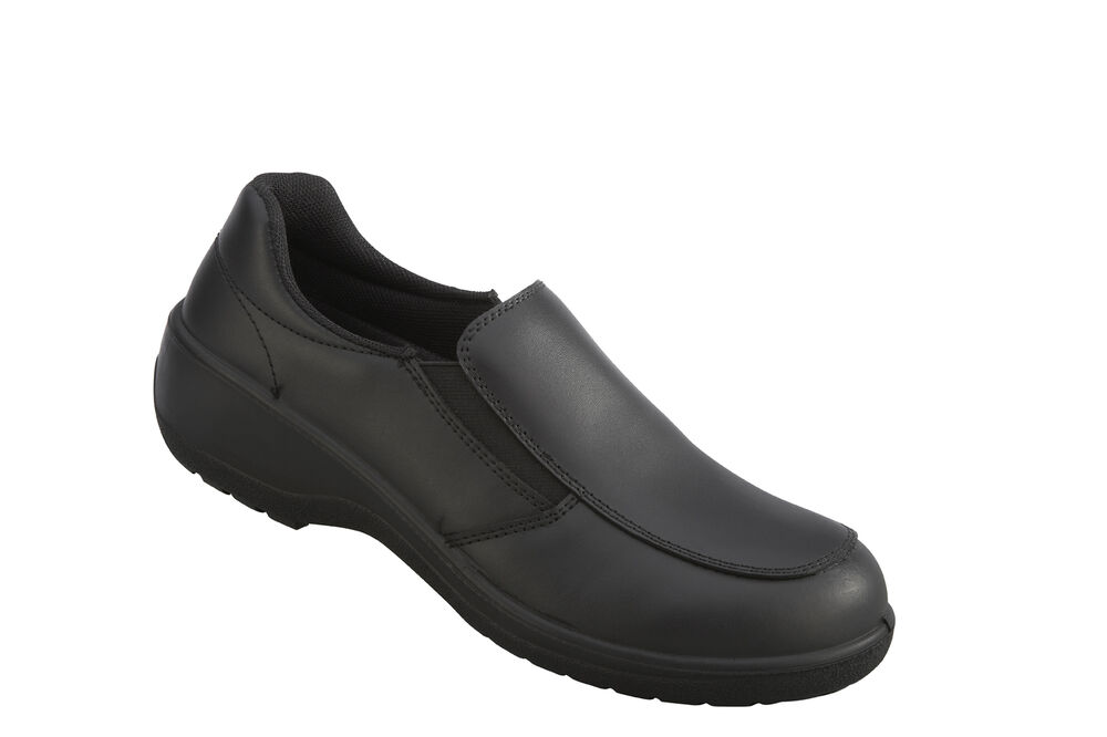 vixen vx530 topaz s1p black slip on steel toe cap
