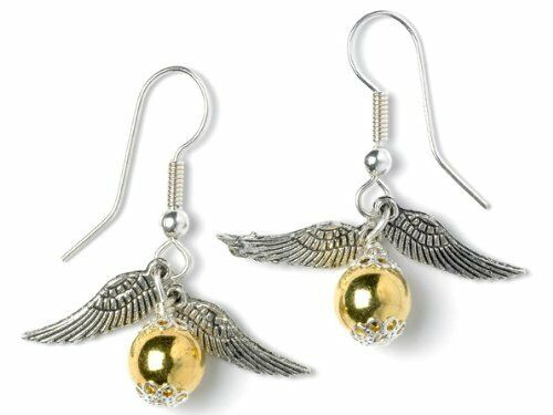 golden snitch earrings harry potter inspired silver plated golden snitch earrings 6990
