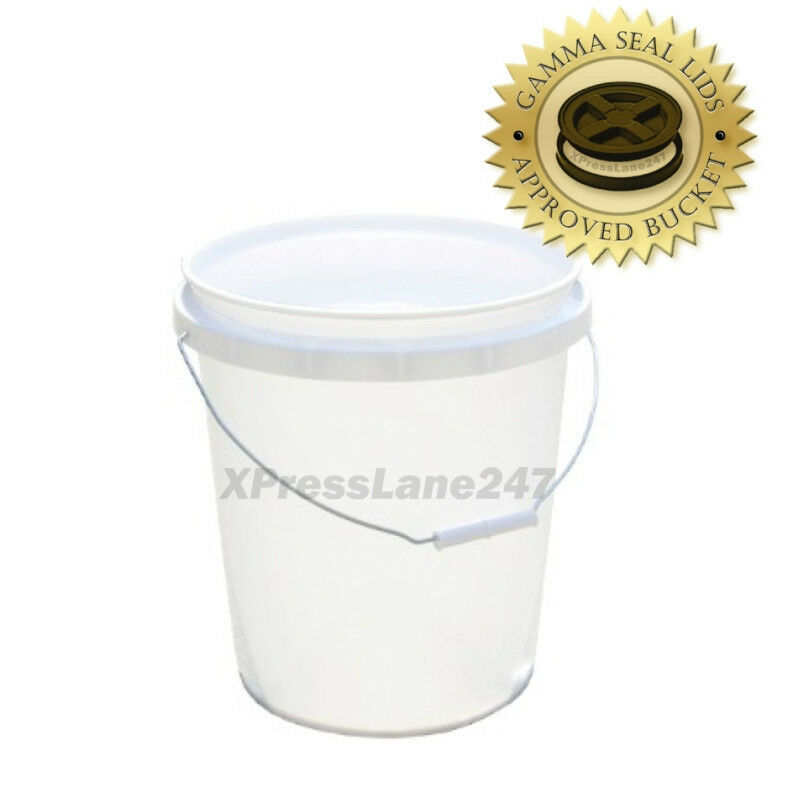 5 Gallon Hdpe Plastic Storage Bucket For Airtight Gamma