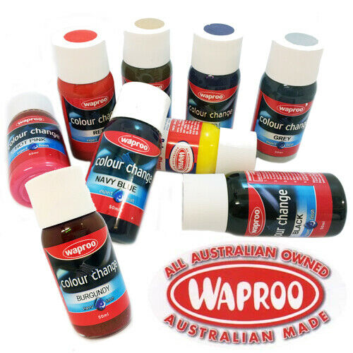 waproo shoe paint included brush colour change for leather synthetic ebay. Black Bedroom Furniture Sets. Home Design Ideas