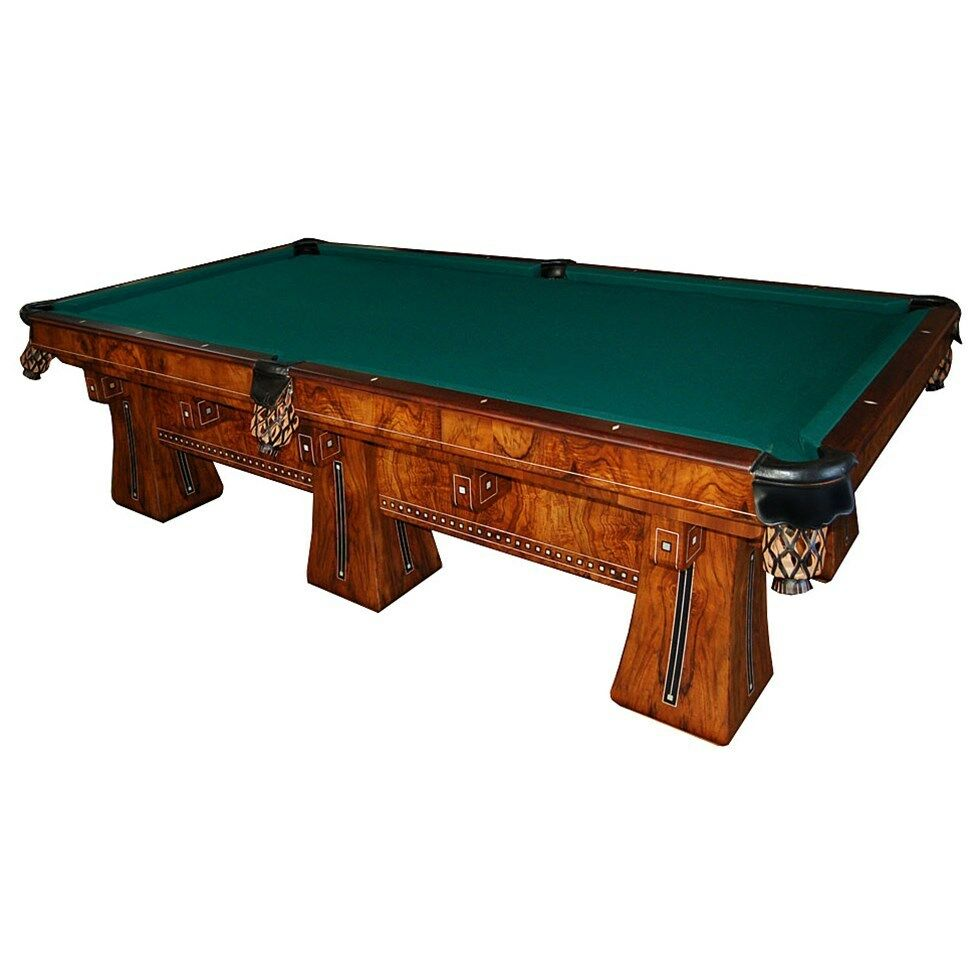 Antique brunswick six legged kling table 6928 ebay for Brunswick pool tables