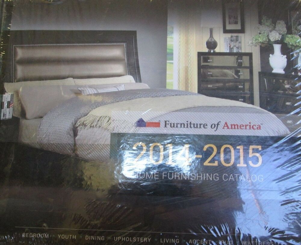 furniture of america home furnishings catalog 2014 2015 new hardcover ebay. Black Bedroom Furniture Sets. Home Design Ideas