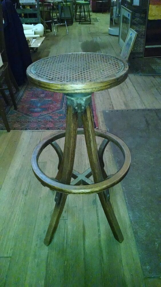 Antique Operators Stool Industrial Barstool Drafting Chair