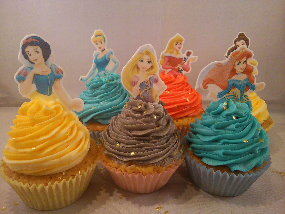 Disney Cake Decorations Princess : 12 **Your Choice** of Disney Princess Edible Cake Toppers ...