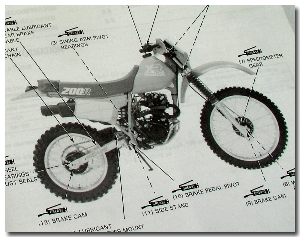GENUINE HONDA 1986 XR200R XR 200R XR200 R SHOP SERVICE MAINTENANCE REPAIR  MANUAL | eBay