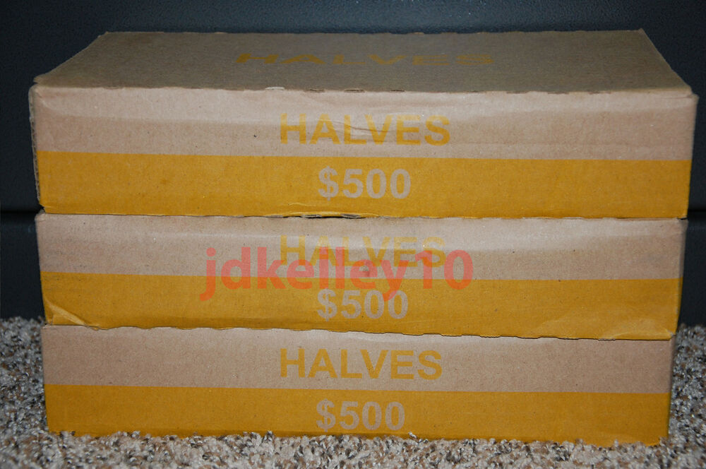One Unsearched Half Dollar Box 50 Rolls Possible Silver