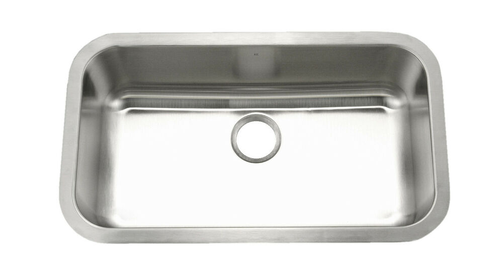 Large Kitchen Sinks Undermount : KE Stainless Steel Kitchen Sink Undermount Large Single 16G 9 Deep ...