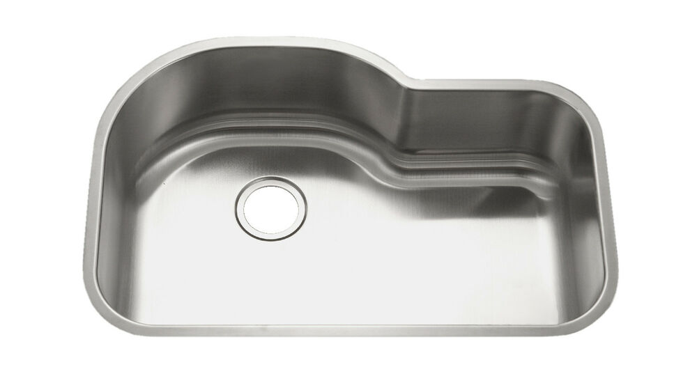 KE Stainless Steel Kitchen Sink Undermount Large Single 16G 9 Deep ...