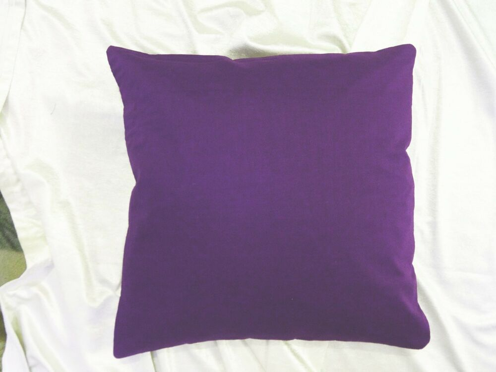 100% cotton purple cushion case solid color bed pillow cover throw couch HD EHS eBay
