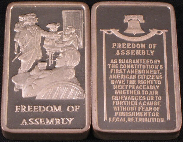 Freedom Of Assembly 4 17 Oz Wittnauer 925 Sterling