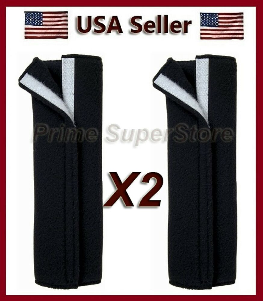2 premium black fleece seat belt comfort pad covers dress