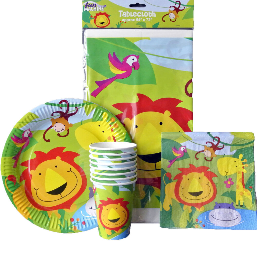 Kids Jungle Birthday Party Supplies Zoo Animals Party