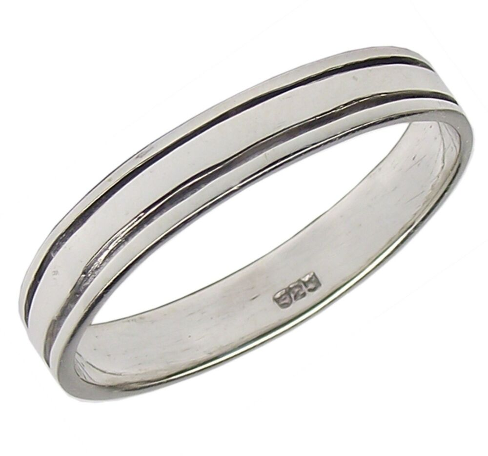 flat band ring 925 sterling silver 3 3mm wide various