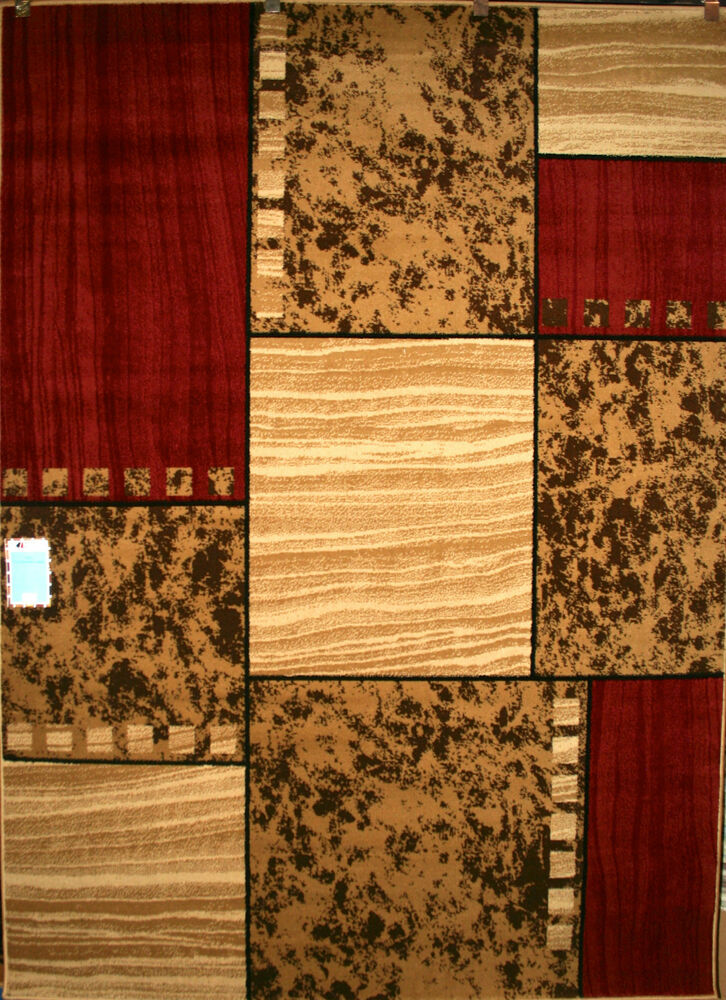 8x10 area rug new modern large huge rawhide leather beige for Red area rugs contemporary