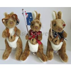 Kyпить 1x Australian Souvenir Kangaroo Plush Soft Toys 25cm - 3 designs to choose from! на еВаy.соm