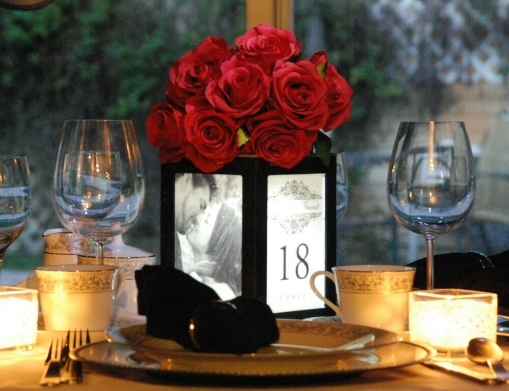 New event table centerpiece light up your photos guest