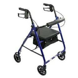 Kyпить Aluminum Rollator Rolling Walker with Medical Curved Back Soft Seat Light Weight на еВаy.соm