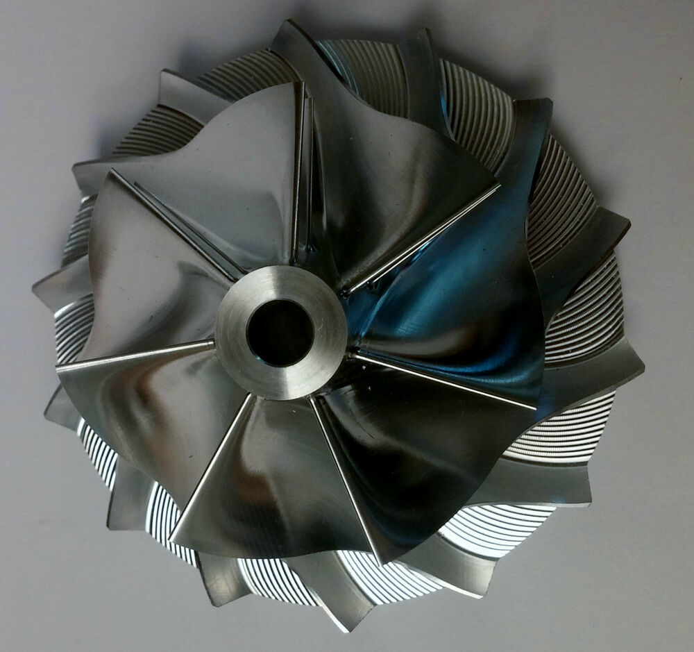 Turbocharger Turbine Wheel Manufacturing Process: S300 66mm BILLET 7 Blade Turbo Compressor Wheel Replaces