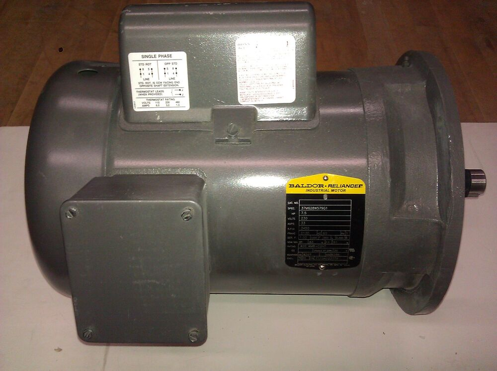 Baldor electric motor 7 5 hp 3450 rpm 208 230 volts 1 for Electric motor 1 5 hp
