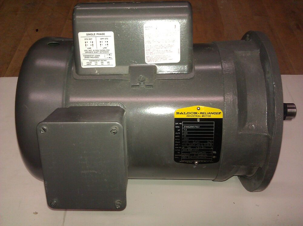 Baldor Electric Motor 7 5 Hp 3450 Rpm 208 230 Volts 1