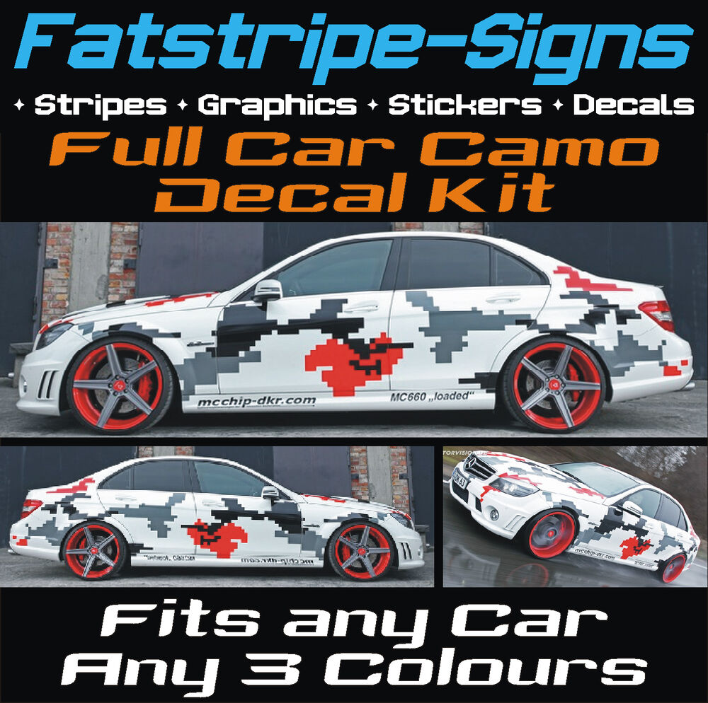 Full Car Camo Kit Graphics Stickers Decals Camouflage