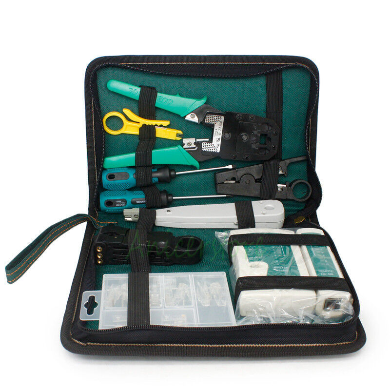 Cat 5 Cable Tester Kit : In cat network wire crimper cable tester rj