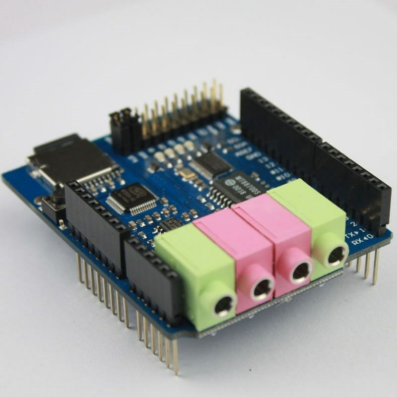 Mp player and recorder dtmf decoder shield for arduino