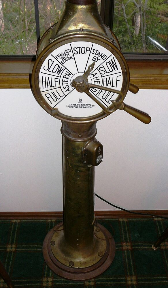Engine Room Telegraph: Authentic US Navy Ship Navigation Station Telegraph World