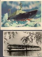 Russia 5 Old Postcards   Boats, Ships.