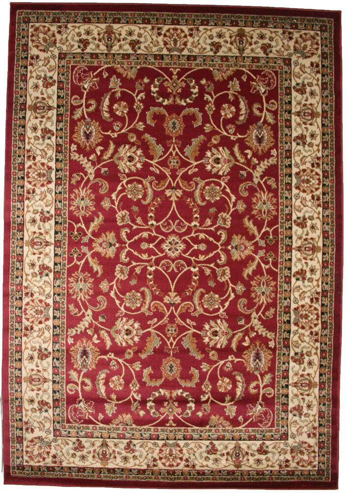 5x8 Area Rug New Persian Border Floral Kashan Claret Red