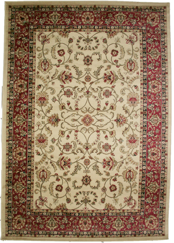 5x8 Area Rug New Persian Border Floral Kashan Cute Beige