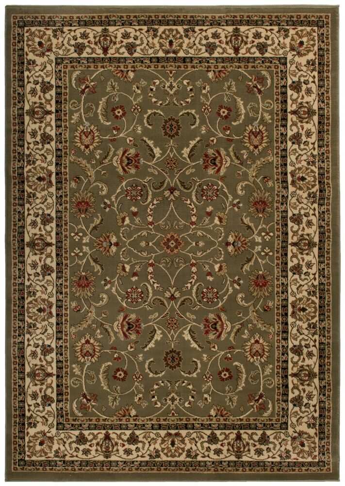 8x10 Area Rug New Persian Border Floral Kashan Sage Green