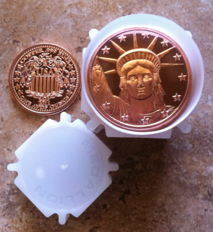 20 1oz Statue Lady Liberty 999 Fine Copper Bullion
