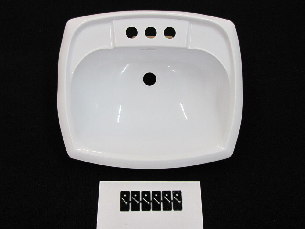 mobile home rv marine parts bathroom lav sink white