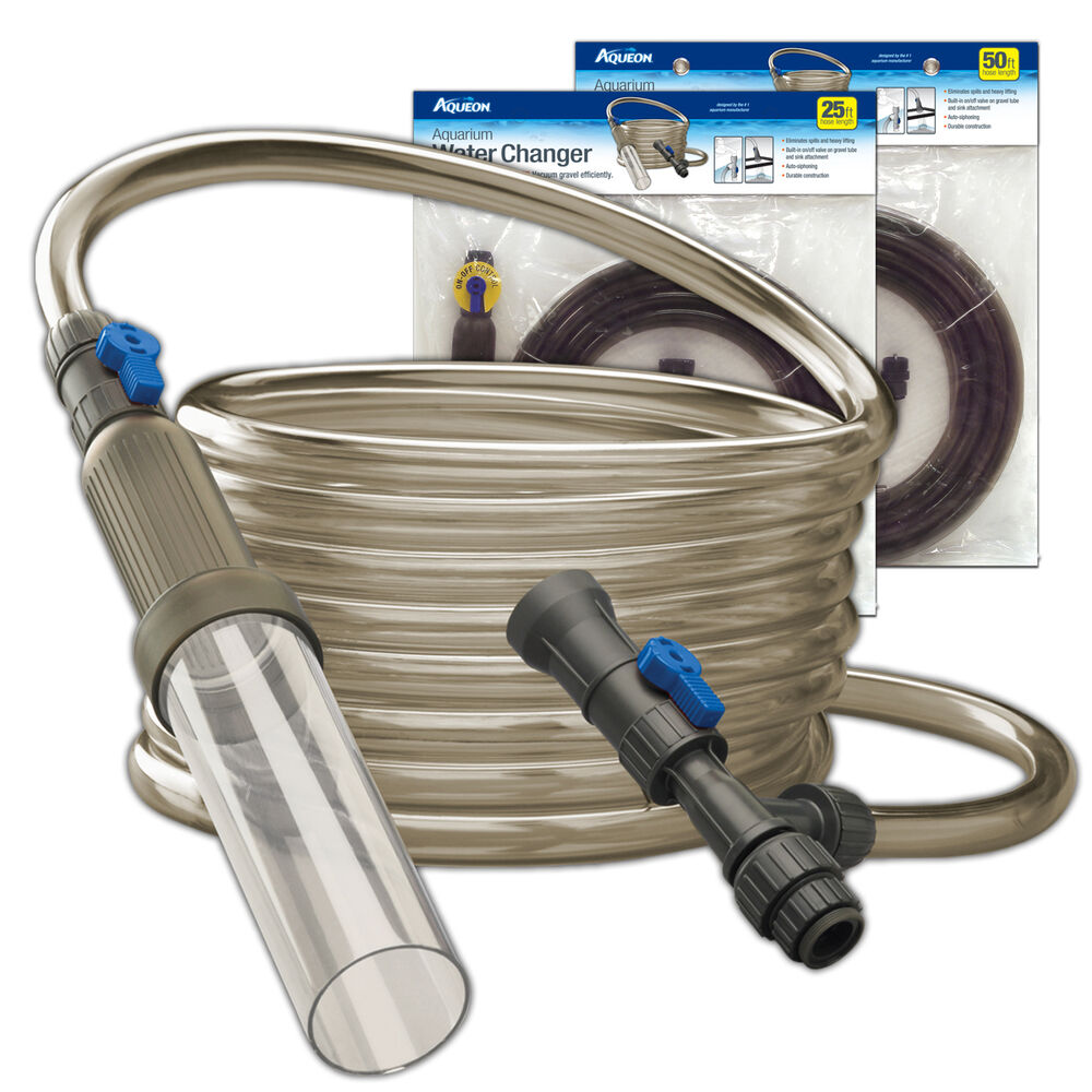 Aqueon aquarium water changer with 25ft or 50 ft hose 2 for Fish tank hose