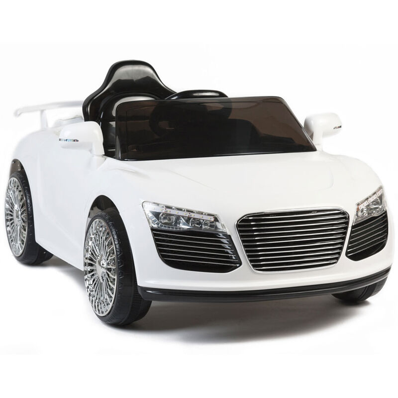 audi r8 style 12v kids ride on car electric powered wheels remote control white ebay
