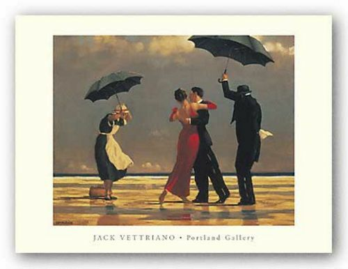 retro art print the singing butler jack vettriano. Black Bedroom Furniture Sets. Home Design Ideas