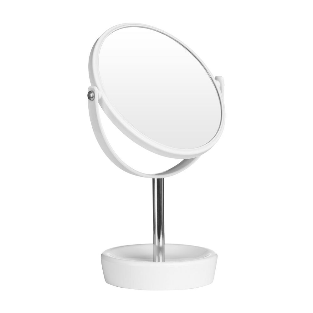 New shaving round swivel table vanity make up mirror on for Stand up mirror
