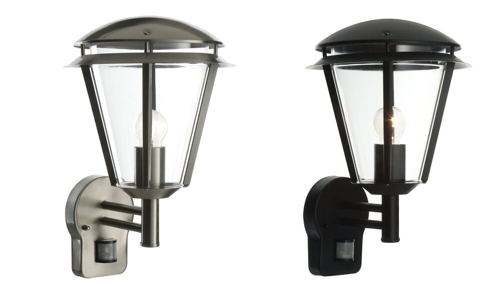 Saxby Inova IP44 porch PIR modern external wall light 60W E27 eBay